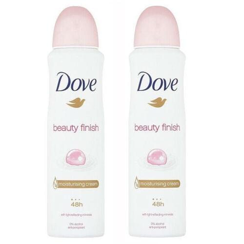 Dove Beauty Finish Spray: 2 Pack Dove Beauty Finish Antiperspirant Deodorant Spray