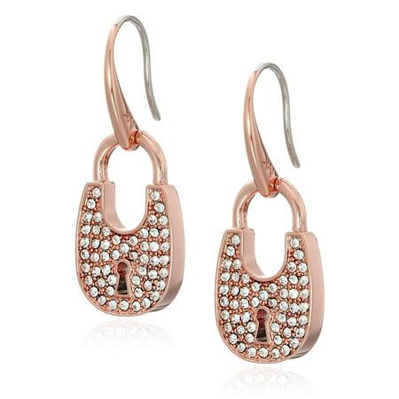 Heritage Jewelry - Michael Kors Heritage Padlock Gold-Tone Drop Earrings