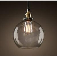 Latoya 1-light Clear Glass 8-inch Edison Pendant with Bulb