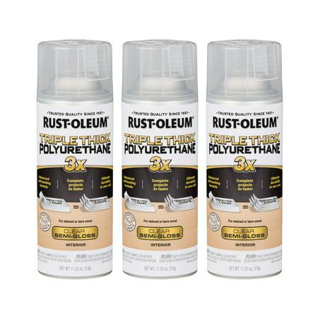 Soft Polyurethane - (3 Pack) Rust-Oleum Triple Thick Polyurethane Spray