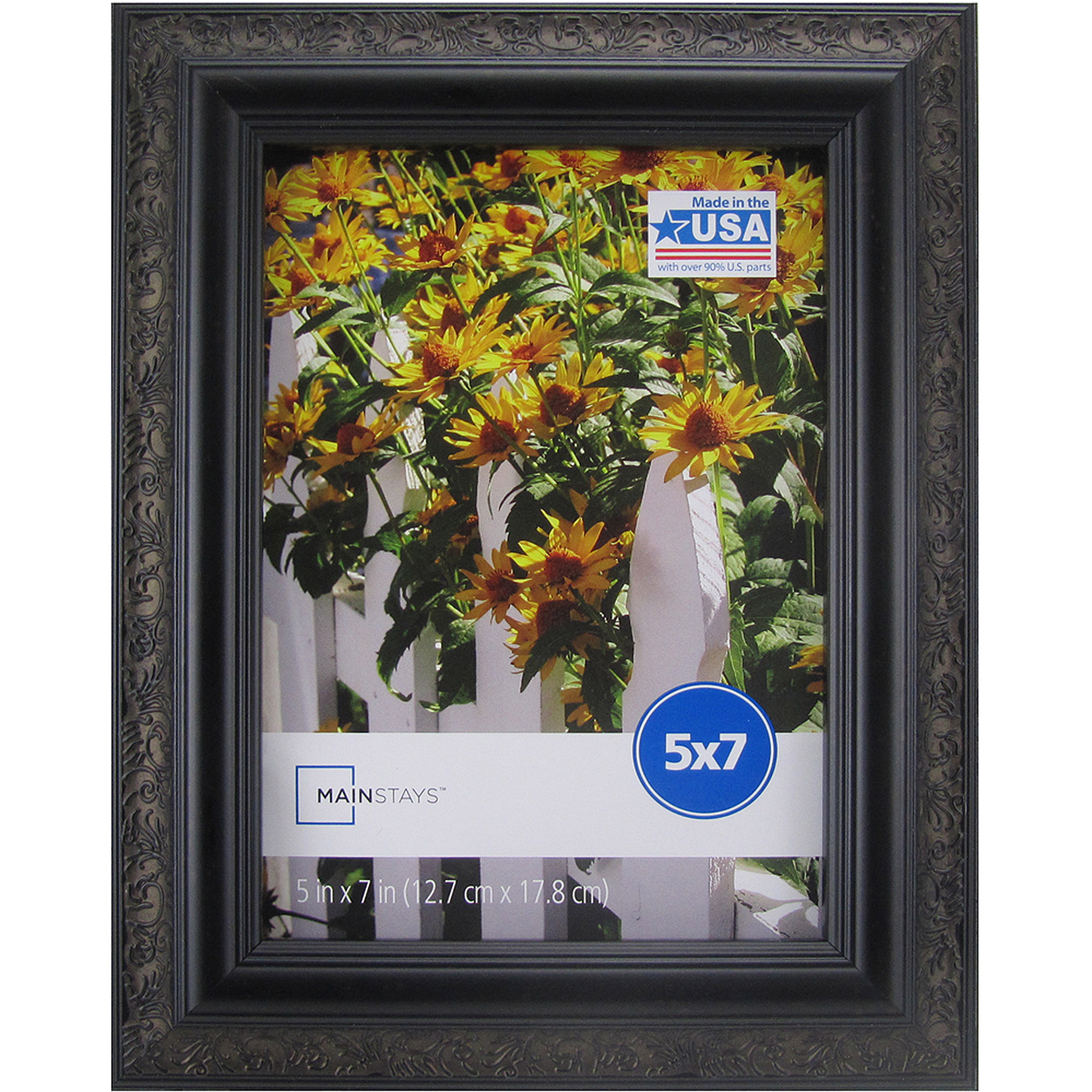 Mainstays 5x7 Ornate Picture Frame, Black