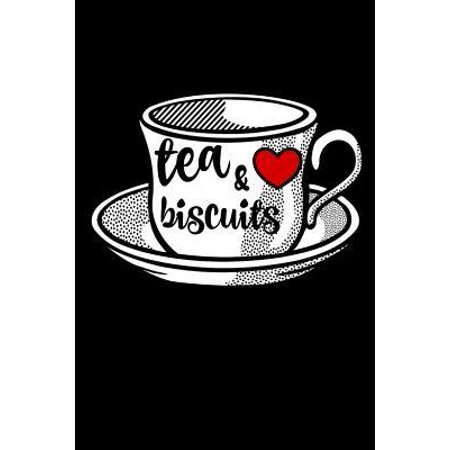 Tea And Biscuits: Funny Novelty British Gift cup & saucer afternoon tea Homework Book Notepad Notebook Composition and Journal Gratitude (Table Setting Ideas For British Afternoon Tea)