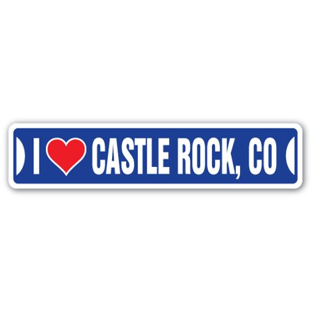 I Love Castle Rock  Colorado Street Sign Co City State Us Wall Road Gift