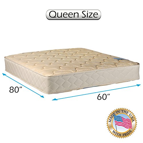 "Chiro Gentle Firm Premier Orthopedic (Beige Color) Queen size (60""x80""x9"") Mattress Only - Fully Assembled, Good for your back, Superior Quality, Long Lasting and 2 Sided by Dream Solutions USA"