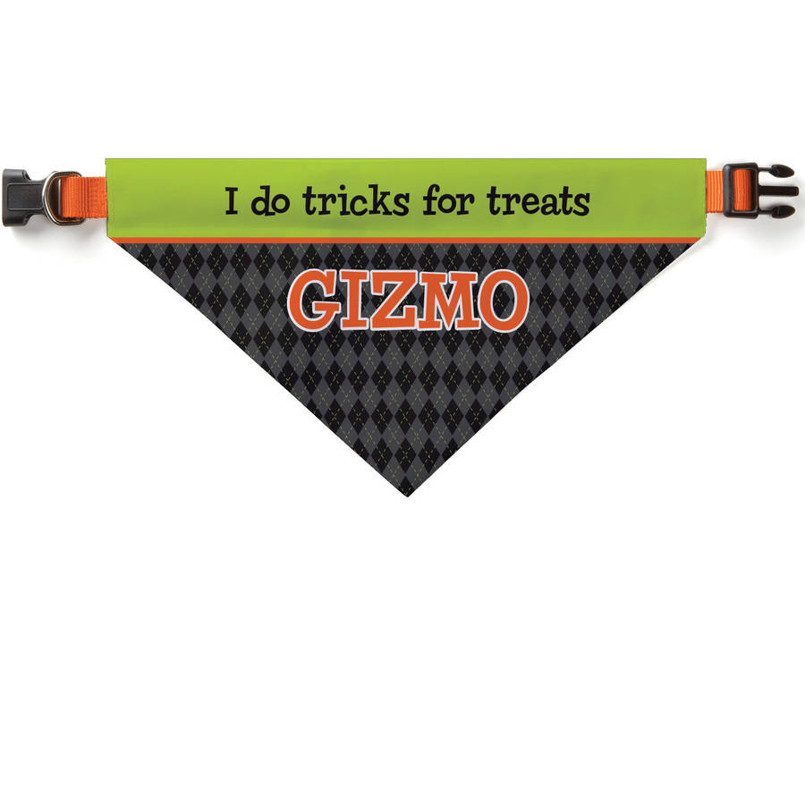 Personalized Tricks For Treats Dog Bandana Collar Cover