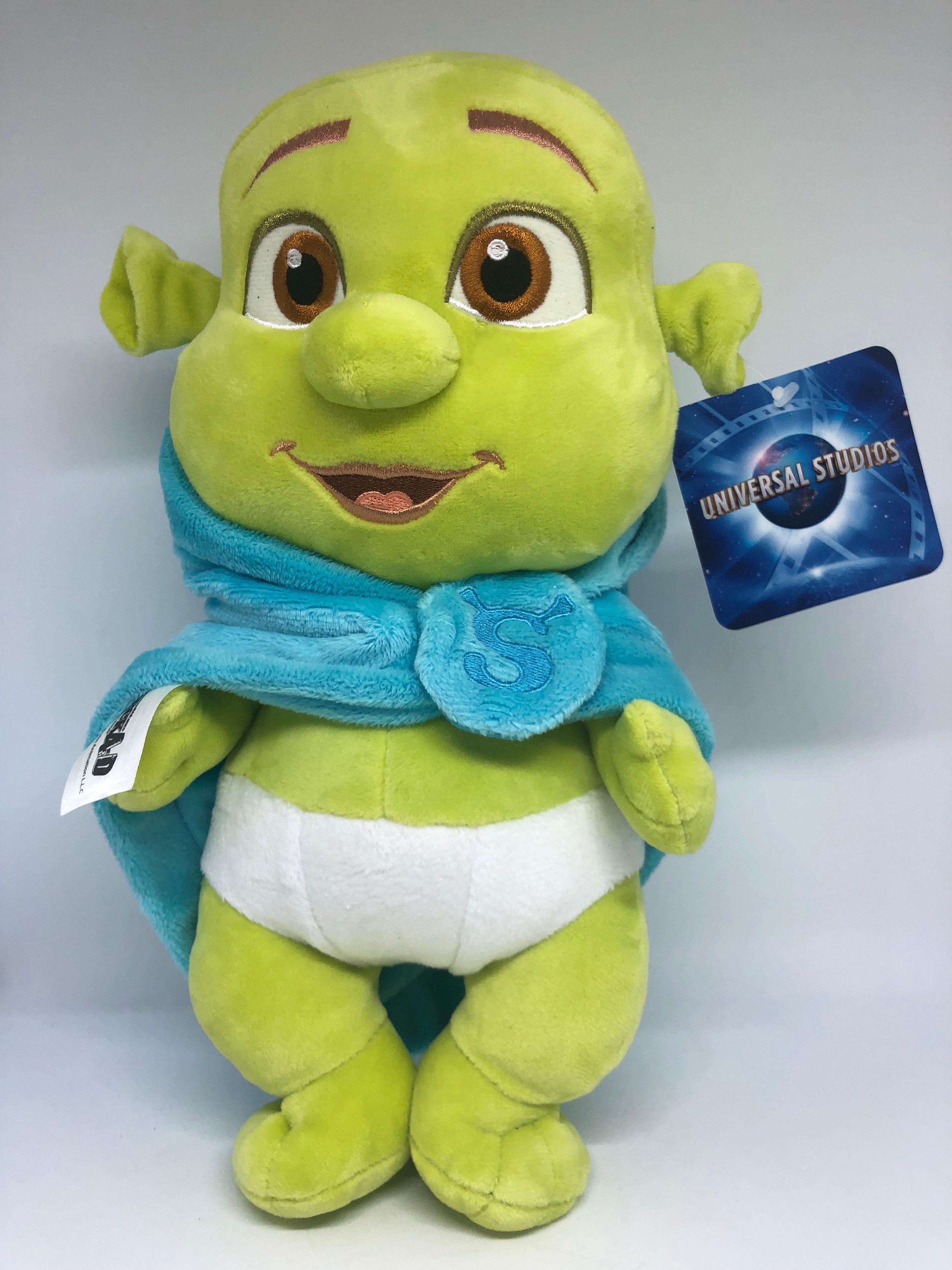 Universal Studios Shrek 4 D Baby Boy In Blanket Plush New