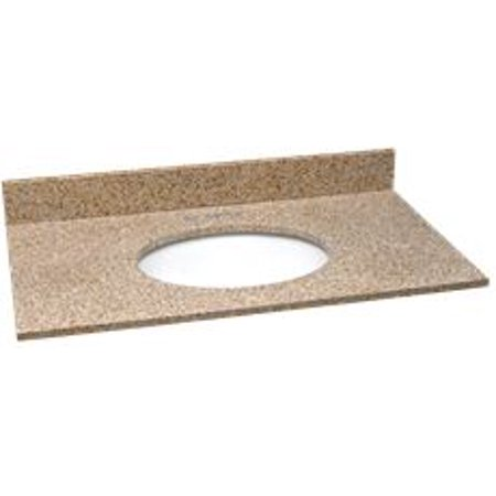 Premier Bathroom Vanity Granite Top  Golden Sand  25 In  X 22 In
