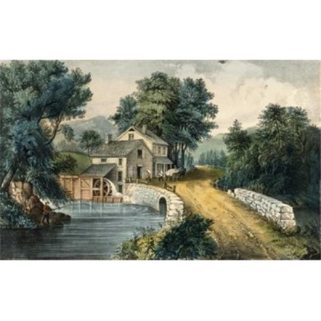 Posterazzi SAL256101 The Roadside Mill 1870 Currier & Ives 1834 -1907 American Lithograph Poster Print - 18 x 24 in. - image 1 de 1