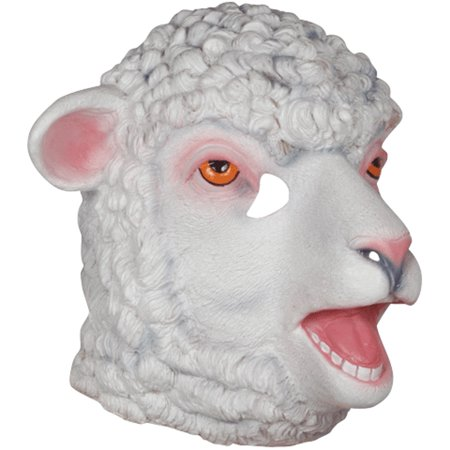 Loftus Halloween Funny Farm Animal Sheep Mask, White Pink, One Size