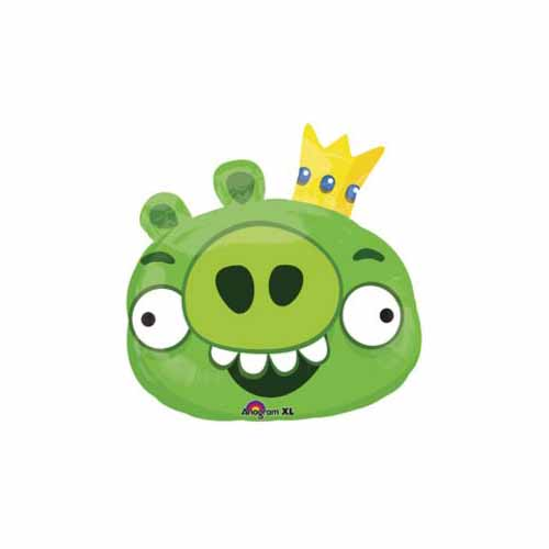 Green Angry Pig Mylar Balloon by US Balloon - 806743
