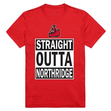 W Republic Apparel 511-166-R58-04 Straight Outta, California State Northridge, Red - Extra Large - image 1 of 1