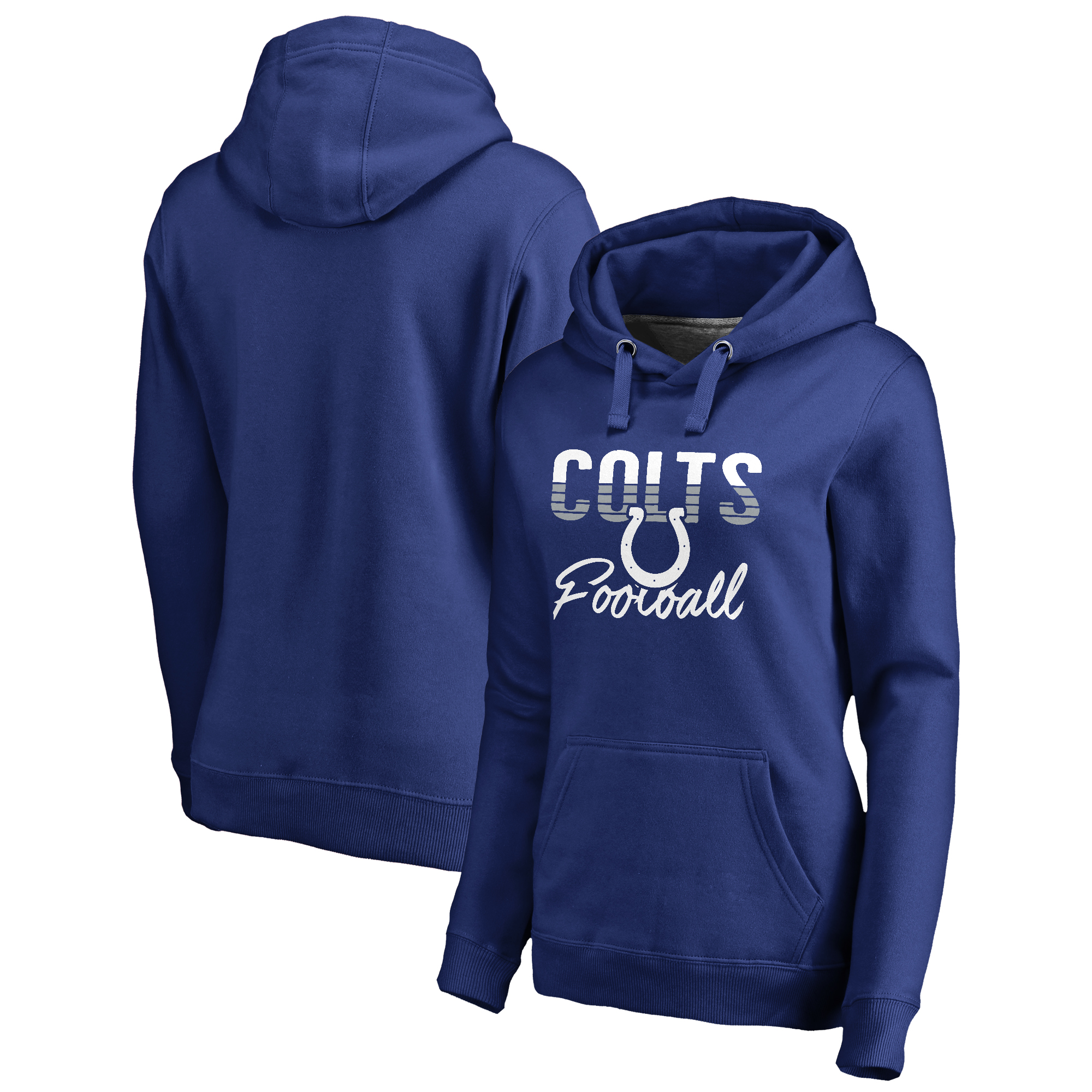 Indianapolis Colts NFL Pro Line by Fanatics Branded Women's Free Line Pullover Hoodie - Royal