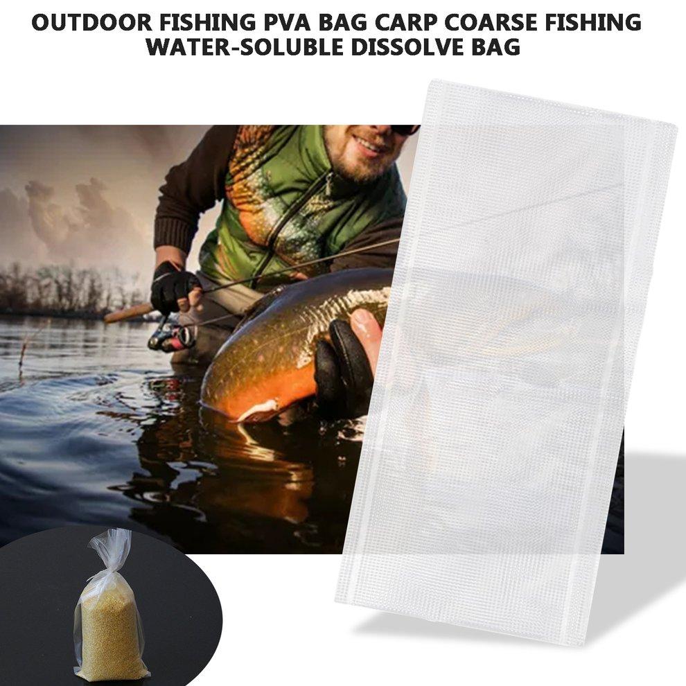 PVA Bags 20PCS+PVA String Water Dissolving Carp Fishing Material Feeder  In SK