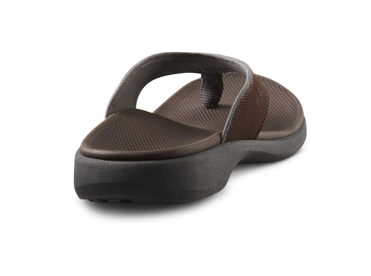 Dr. Comfort Collin Men's Supportive Orthotic Sandals - Chocolate