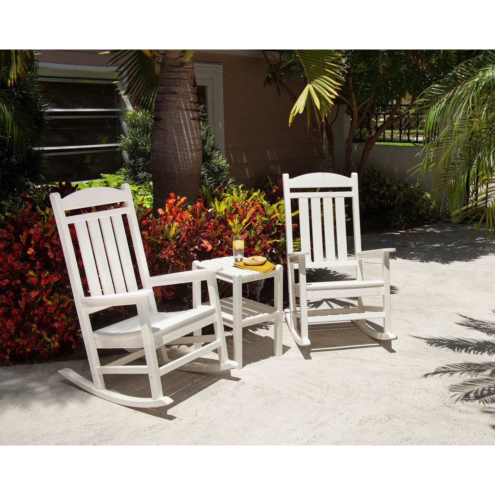 polywood presidential recycled plastic rocking chair