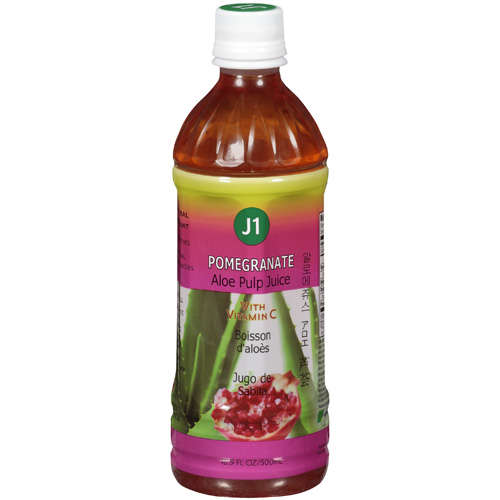 J1: Pomegranate Aloe Pulp Juice, 16.90 fl oz