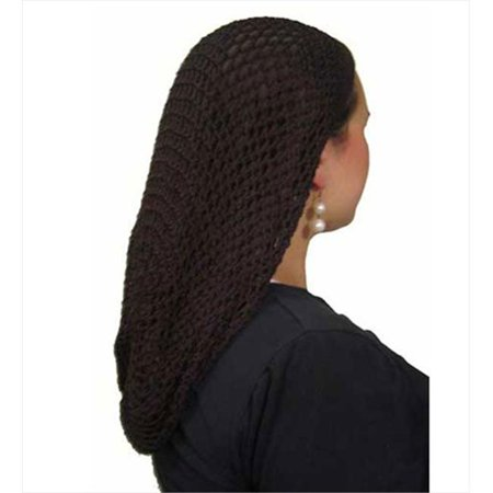 CoverYourHair 50109 Brown Long Crochet Belgium Snood - Walmart.com