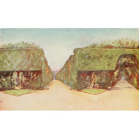 Naples 1904 Park of Palace of Capodimonte Canvas Art - Augustine Fitzgerald (18 x 24)