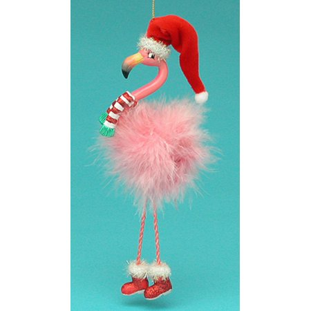 club pack of 12 pink flamingo christmas ornaments with dangle legs 75 - Flamingo Christmas Decorations