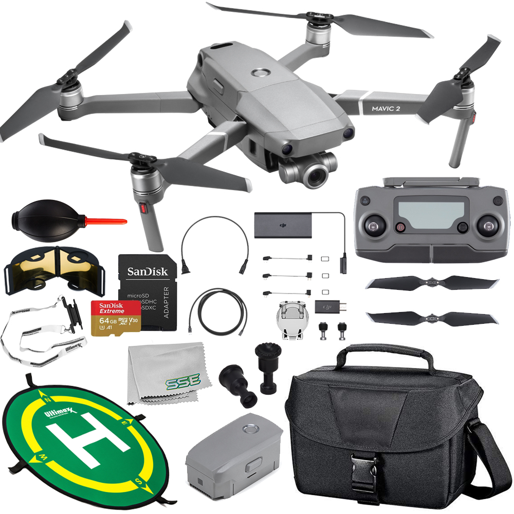 DJI Mavic 2 Zoom Drone Quadcopter with 24-48mm Optical Zoom Camera Must-Have 1-Battery Bundle