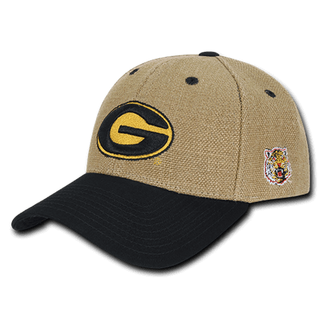 NCAA Grambling State Tigers University Low Constructed Structured Jute Caps Hats (Northeastern University Hat)