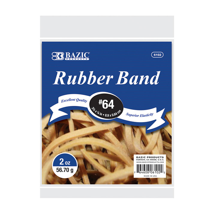 (Price Case of 36)Bazic Products 6102-36 2 Oz.  56.70 G #64 Rubber Bands by Generic