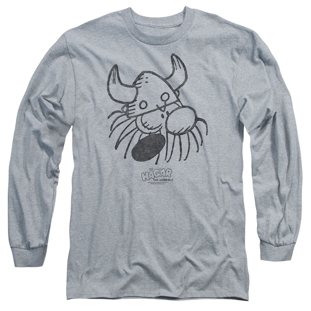 Hagar The Horrible Hagar Head Mens Long Sleeve Shirt
