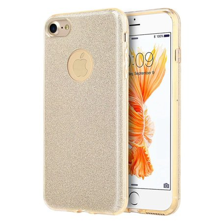 Insten Starry Dazzle Hard Plastic/Soft TPU Rubber Case Cover For Apple iPhone 8 / iPhone 7, Gold