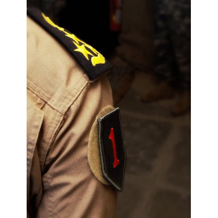 Iraqi Air Force General sports a Big Red One patch on uniform Poster Print by Stocktrek Images