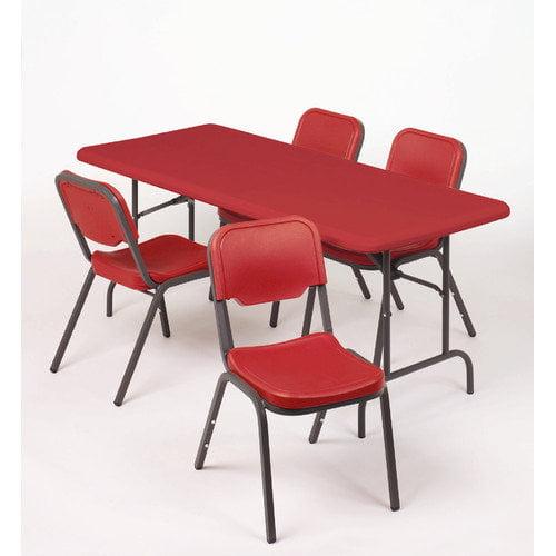Iceberg Enterprises Stack Chair in Red (Pack of 4)