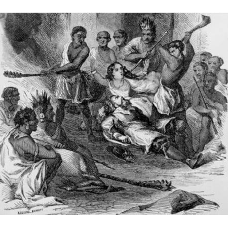 Pocahontas Saving the Life of John Smith American History Canvas Art -  (18 x 24) (Pocahontas And John Smith Costumes For Adults)