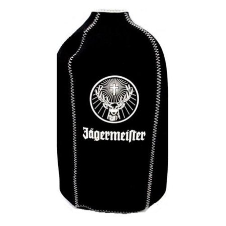 Bottle Cooler Black Insulating Neoprene 1 Premium Jagermeister