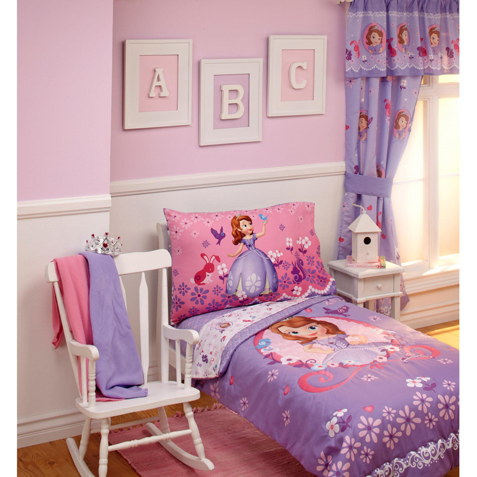Disney Sofia Tiara Time 4pc Toddler Bedding Set Walmartcom