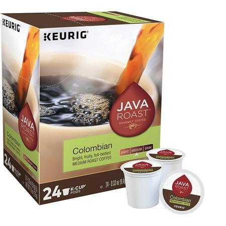 Java Roast Colombian Coffee Keurig K-Cup Pods Medium Roast 24/BX (52969)
