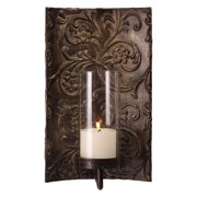 Galicia Embossed Candle Wall Sconce