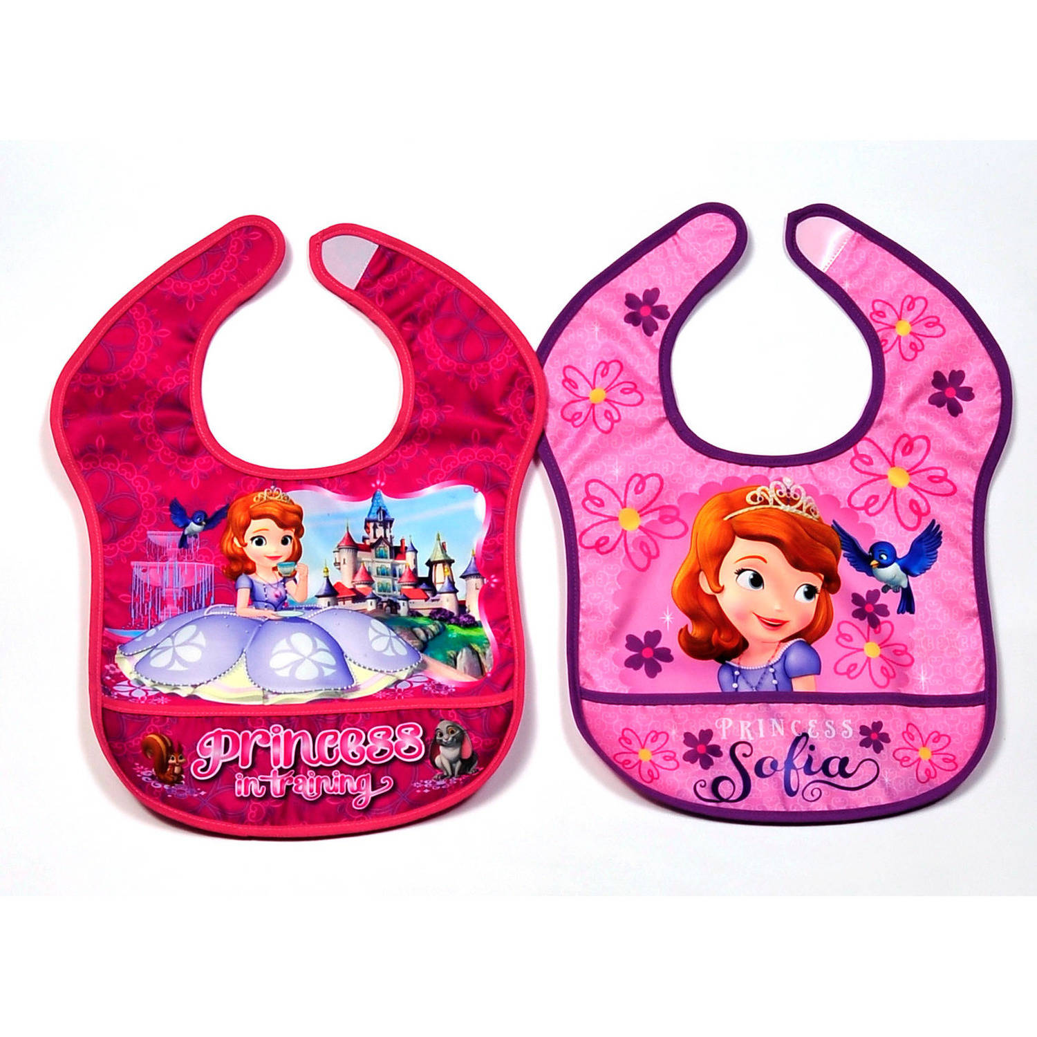 Disney Sofia the First Nylon Bibs, Pack of 2