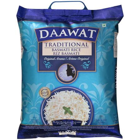 - Daawat Traditional Basmati Rice, 10 Lbs - $1.8/lb