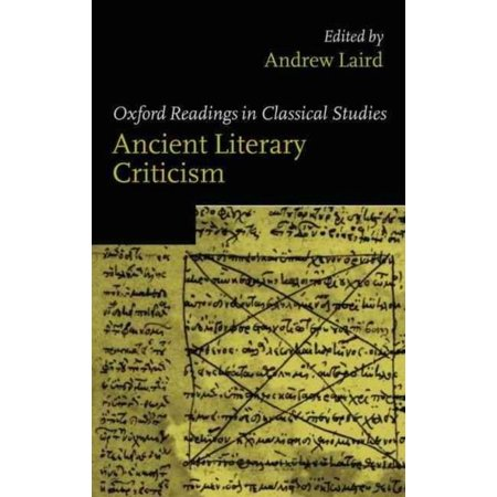 Ancient Literary Criticism: Oxford Readings in