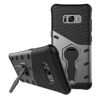 Galaxy S8 Plus Case, Mignova Hybrid Protective Case Shock-Absorption Drop-Protection Hard PC Shell  Soft Silicone Inner Case with Kick Stand for Samsung Galaxy S8 Plus 2017 (Gray)