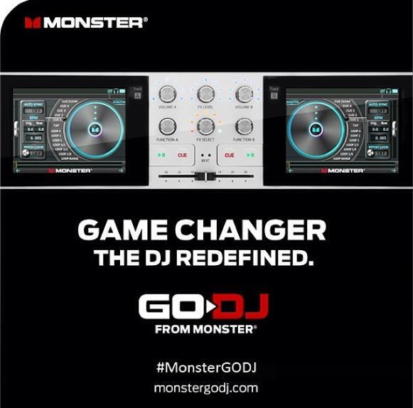 Brand New Monster Go DJ Portable DJ System Touchscreen Studio Pocket DJ Mixer by