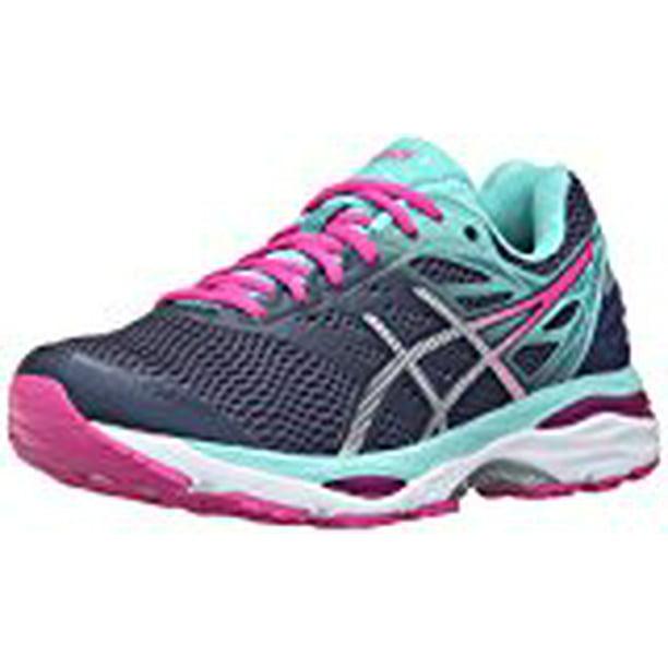 Asics Asics Women S Gel Cumulus 18 Running Shoe Indigo Blue Silver Pink Glow 12 M Us Walmart Com Walmart Com
