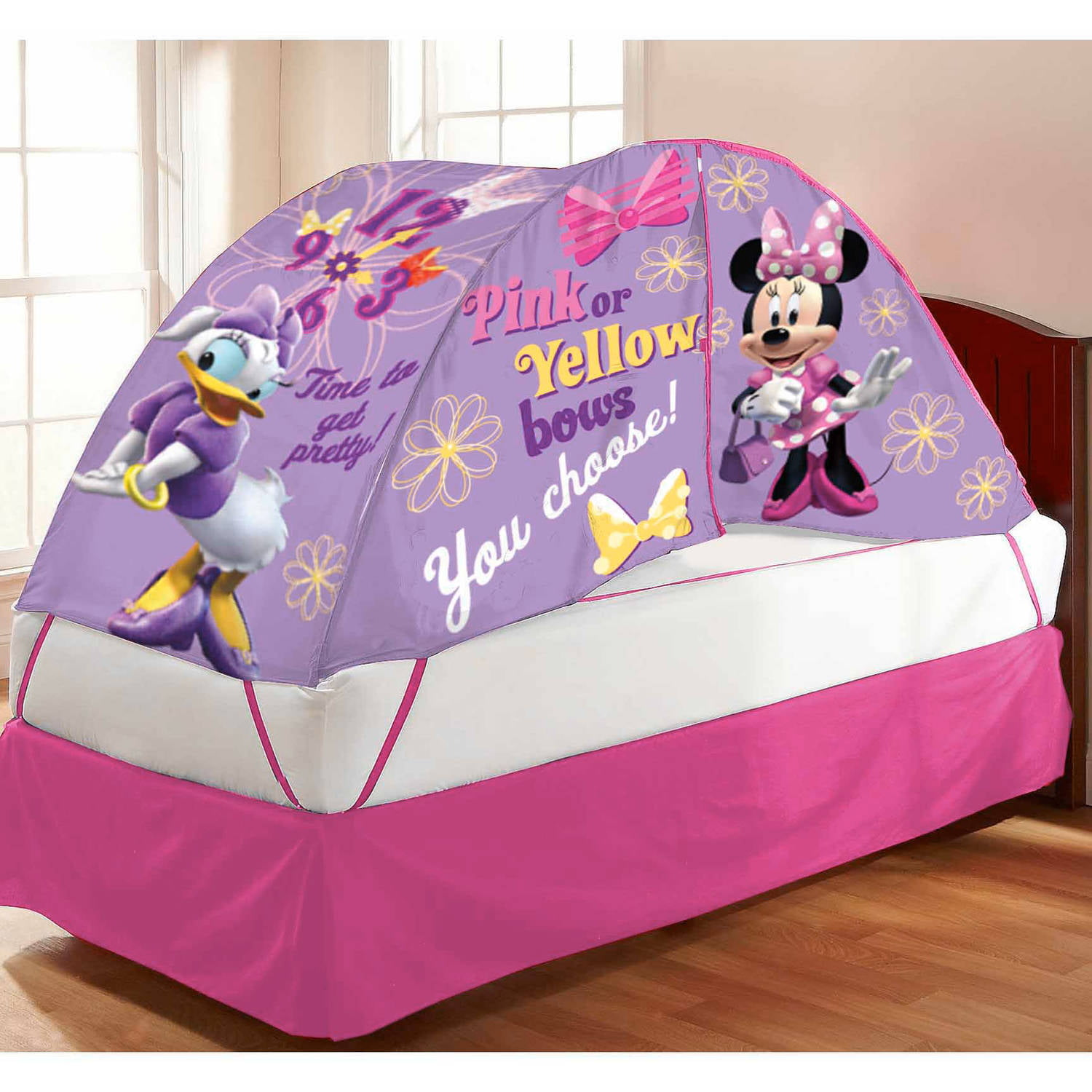 & Minnie Mouse Bed Tent with Pushlight - Walmart.com