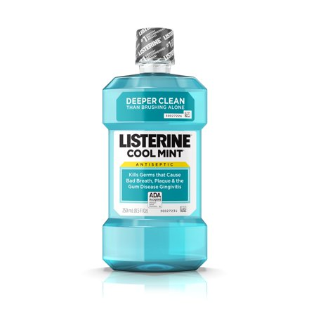 Cool Mint Listerine Antiseptic Mouthwash To Stop Bad Breath  250 Ml