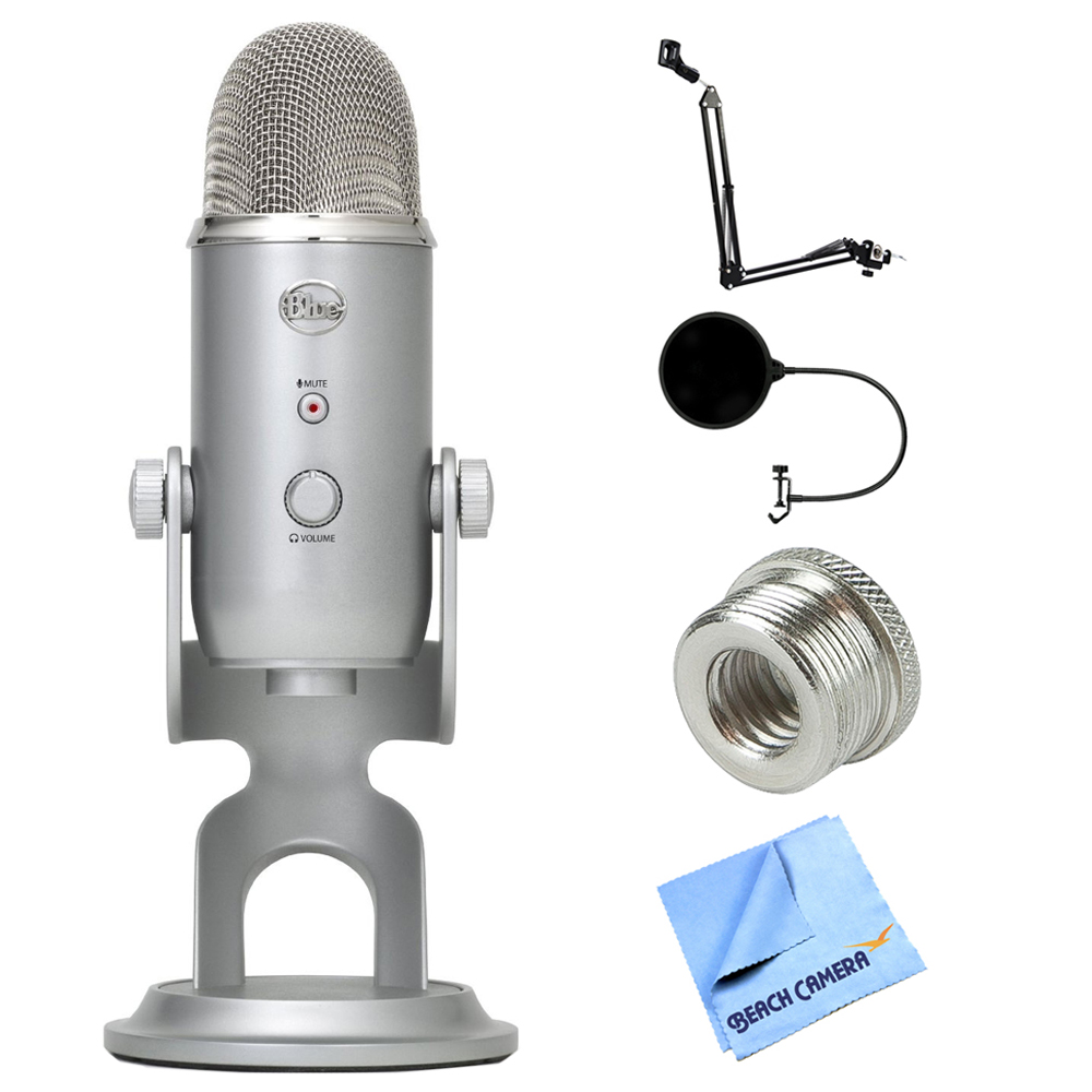 Blue Microphones Yeti Ultimate USB Microphone Silver (YETI) + Suspension Boom Scissor Arm... by Blue Microphones