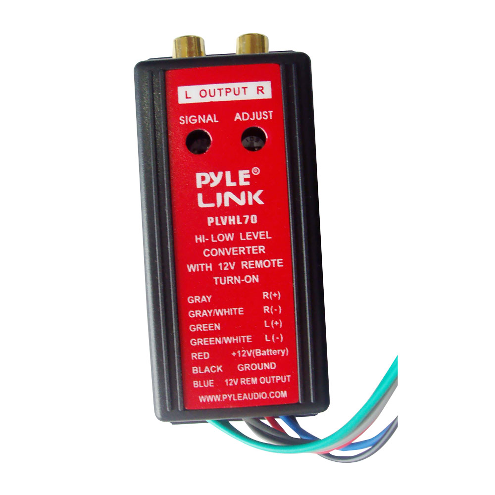 PYLE PLVHL70 - 2-Channel High-Level To Low-Level Converter with 12V Remote Turn-On