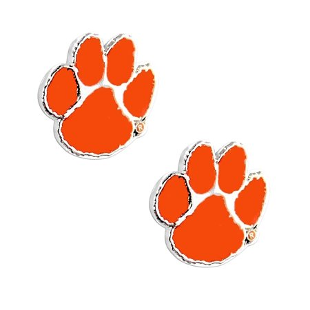 NCAA Clemson Tigers Sports Team Logo Post Stud Earring (Lsu Tigers Post Earring)