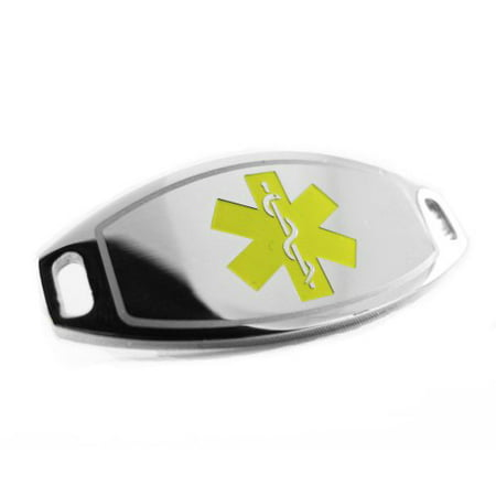 MyIDDr - Pre-Engraved - CANCER PATIENT Medical Alert ID Tag, Attachable to Bracelet, Yellow