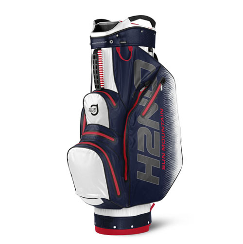 Sun Mountain 2017 H2No Cart Bag - White / Navy / Red