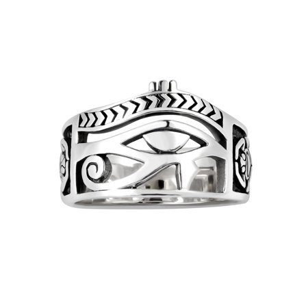 Egyptian Eye of Horus Ankh Cross Sterling Silver (Egyptian Ankh Cross Ring)
