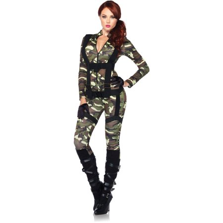 Leg Avenue Pretty Paratrooper Adult Halloween Costume](Pretty Halloween Makeup Vampire)